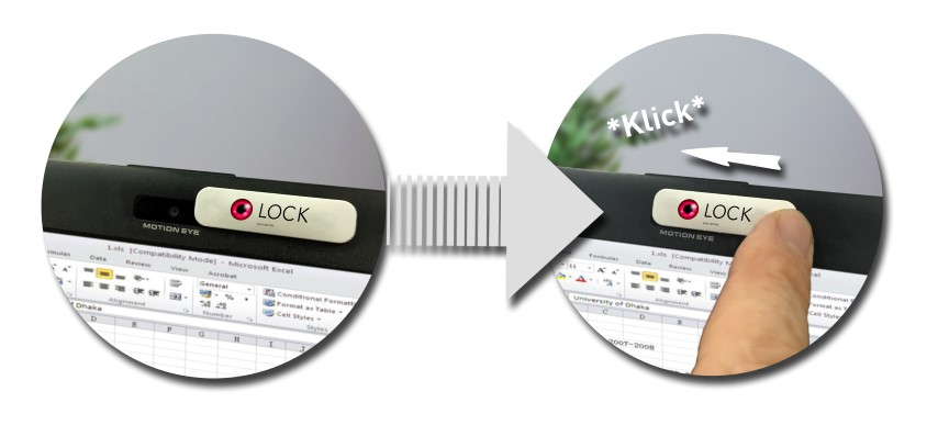 Keep your privacy with LOCK‐The classy alternative to the simple web‐cam sticker!